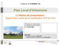 PLU – Notice de présentation après Modif n° 2