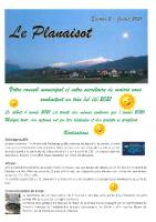 Le Planaisot – Éditon 2 – juillet 2021