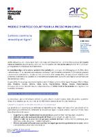 Info moustique tigre 2021